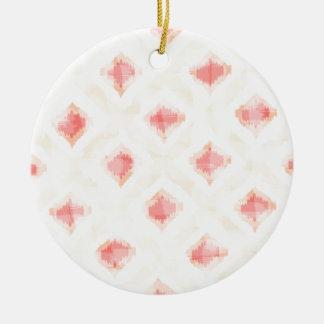 Rugged Pattern in Warm Ceramic Ornament