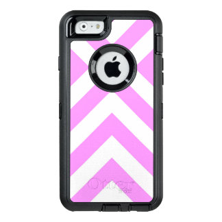 Rugged Pink and White Chevrons OtterBox Defender iPhone Case