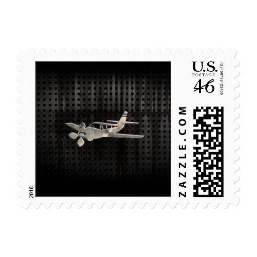 Rugged Plane Postage Stamp