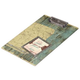 Rugged Planks Clipboard Clip Board