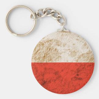 Rugged Polish Flag Keychain