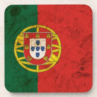 Rugged Portuguese Flag Drink Coaster