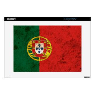 "Rugged Portuguese Flag Skin For 15"" Laptop"