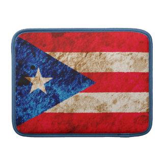 Rugged Puerto Rican Flag MacBook Sleeve