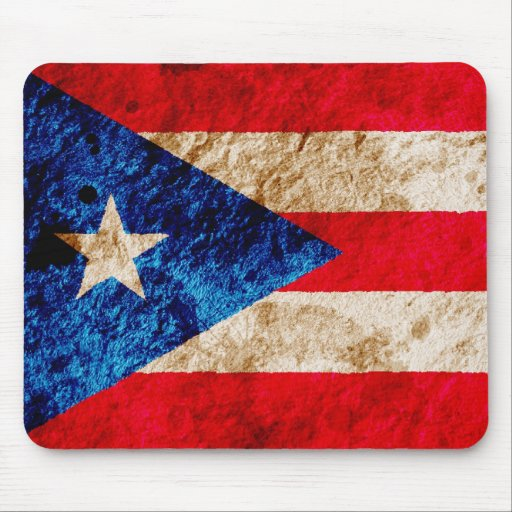 Rugged Puerto Rican Flag Mouse Pad