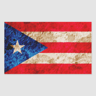 Rugged Puerto Rican Flag Stickers