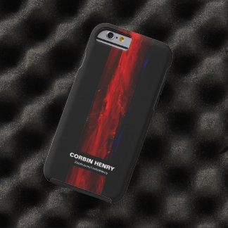 Rugged Red Abstract iPhone 6 case