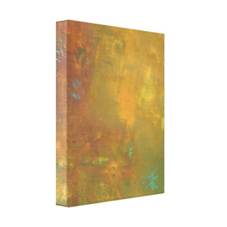 Rugged Rustic Earthy Tones Abstract Canvas Print