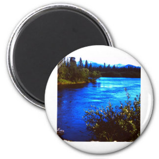 Rugged scenic Alaskan river Magnet
