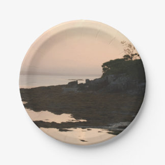 Rugged Shoreline at Dusk 7 Inch Paper Plate