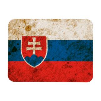 Rugged Slovakian Flag Magnet