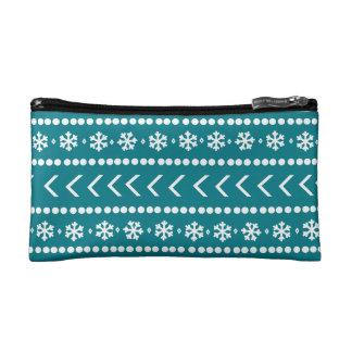 Rugged Snow make-up pouch - teal Makeup Bag