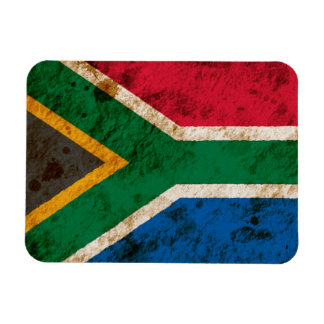 Rugged South African Flag Magnet