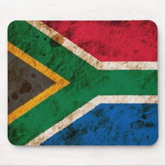 Rugged South African Flag Mousepad