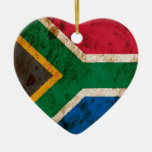 Rugged South African Flag Ornament