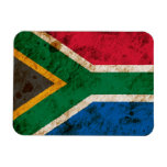 Rugged South African Flag Rectangular Photo Magnet
