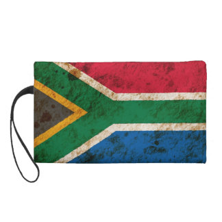 Rugged South African Flag Wristlet Purse