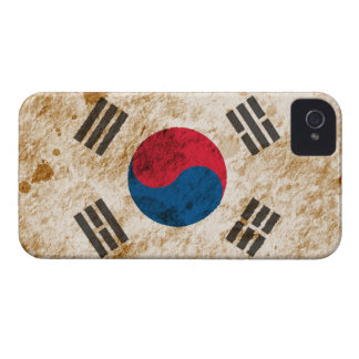 Rugged South Korean Flag iPhone 4 Case-Mate Cases