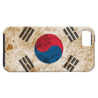 Rugged South Korean Flag iPhone 5 Cases