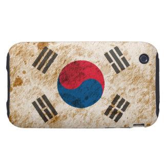 Rugged South Korean Flag Tough iPhone 3 Cases