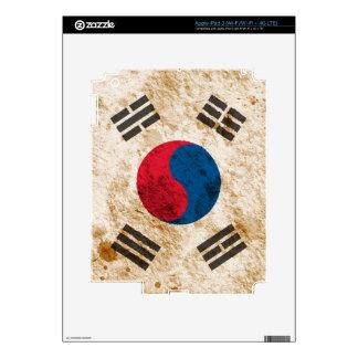 Rugged South Korean Flag iPad 3 Decal