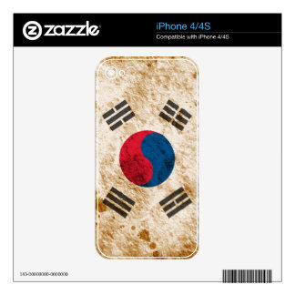 Rugged South Korean Flag Decals For The iPhone 4