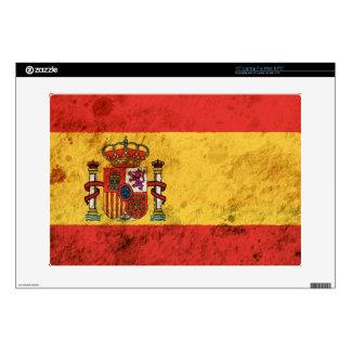 Rugged Spanish Flag Laptop Decals