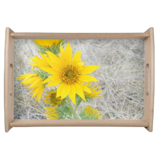 Rugged Sunflower Serving Tray