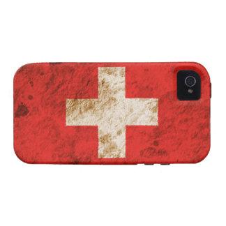 Rugged Swiss Flag iPhone 4/4S Case