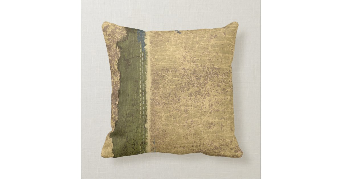 Rugged Tan and Forest Green Throw Pillow Zazzle