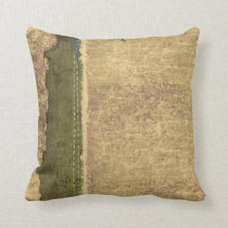 Rugged Tan and Forest Green Throw Pillow