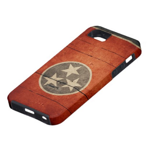 Rugged Tennessee Flag iPhone 5 Case