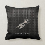Rugged Trumpet Throw Pillow