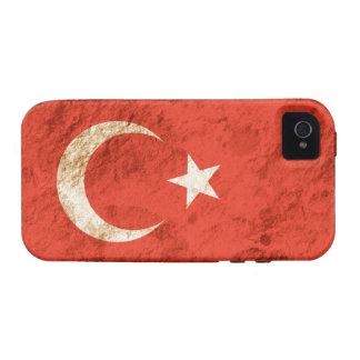 Rugged Turkish Flag Vibe iPhone 4 Case