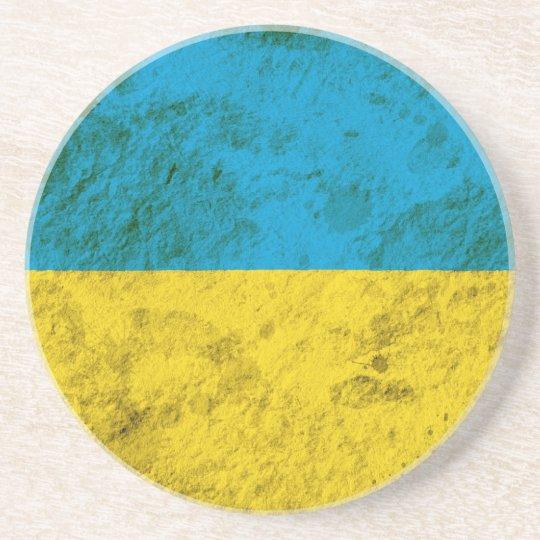 Rugged Ukrainian Flag Drink Coaster