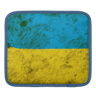 Rugged Ukrainian Flag iPad Sleeve