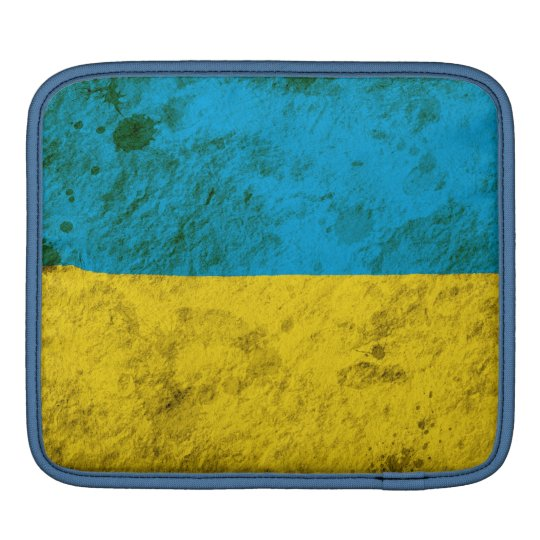 Rugged Ukrainian Flag Sleeves For iPads