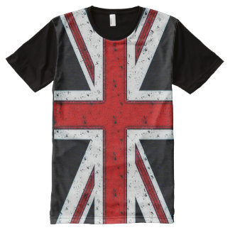 Rugged Union Jack All-Over-Print T-Shirt