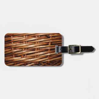 Rugged Wicker Basket Look Bag Tag