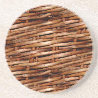 Rugged Wicker Basket Look Coasters