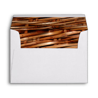 Rugged Wicker Basket Look Envelope