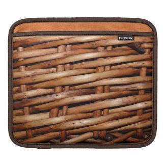 Rugged Wicker Basket Look iPad Sleeve