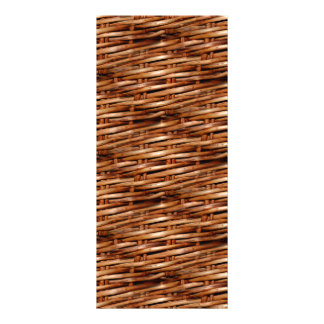 Rugged Wicker Basket Look Rack Card