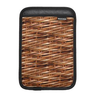 Rugged Wicker Basket Look Sleeve For iPad Mini