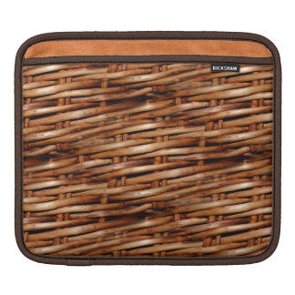 Rugged Wicker Basket Look Sleeve For iPads