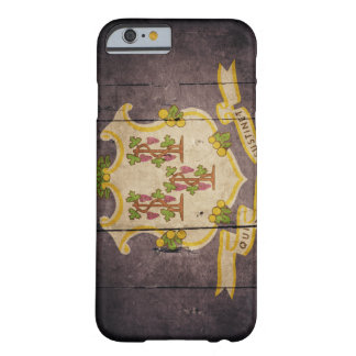 Rugged Wood Connecticut Flag Barely There iPhone 6 Case