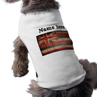 Rugged Wood Hawaii Flag Dog Tshirt