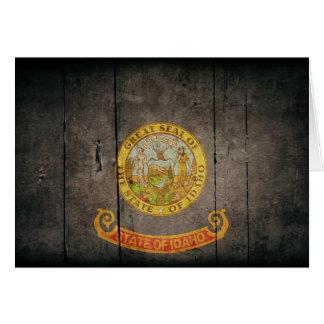 Rugged Wood Idaho Flag Card