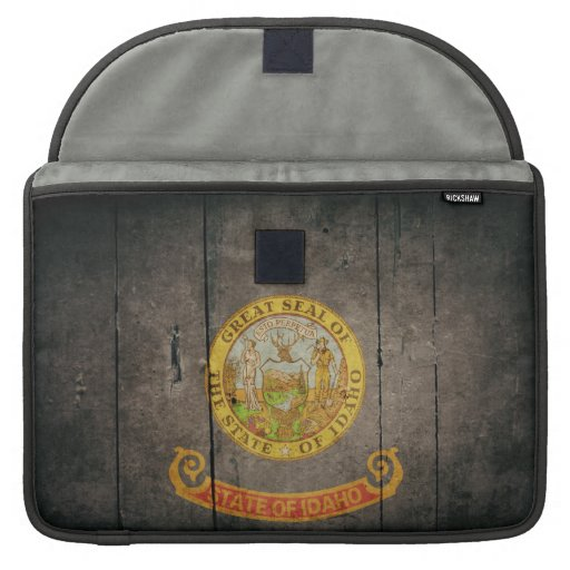 Rugged Wood Idaho Flag MacBook Pro Sleeve