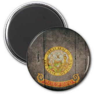 Rugged Wood Idaho Flag Magnets